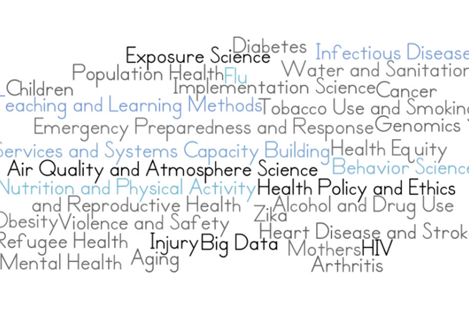 A Word Art of the GIllings School Research Strengths
