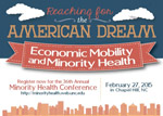 Save-the-date card for 36th Annual Minority Health Conference