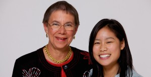 Priscilla Guild with Alice Wang (Photo by Tom Fuldner)