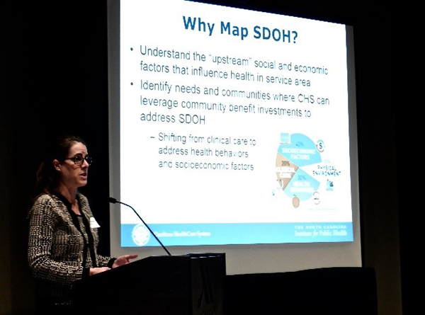 NCIPH Research Associate Kasey Decosimo presents on mapping social determinants of health.