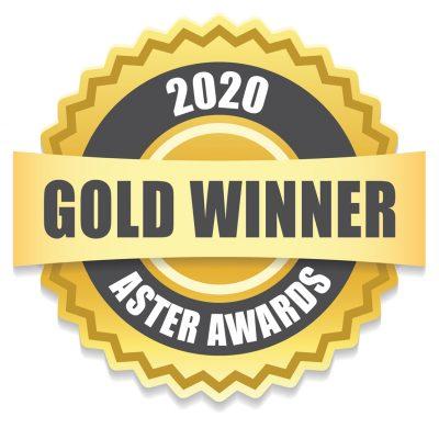 Aster Award gold medal logo