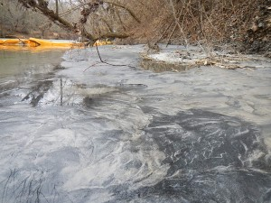 Coal ash on Dan River