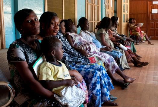 Mothers waiting for antenatal care at Ridge Regional Hospital in Accra, Ghana.  Photo provided by Rohit Ramaswamy