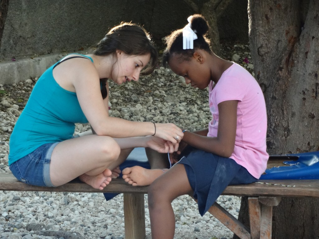 MPH student during Haiti relief trip