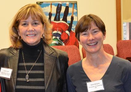 Health Behavior chair Dr. Leslie Lytle (left), with Dr. Carol Brayne, of the University of Cambridge (U.K)