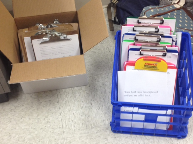 So many clipboards! Photo by Brianne Kallam