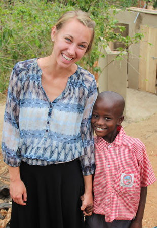 Lacey English, left, became concerned about children's nutrition when she worked with undernourished children in Uganda.