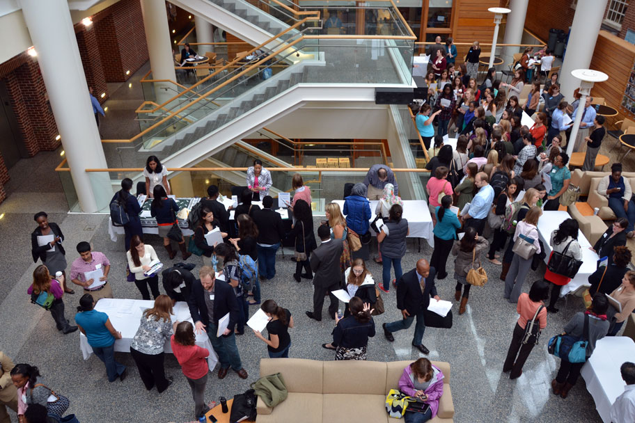 The Armfield Atrium played host to the 2013 Graduate Program Open House.