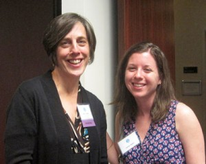 Amy Lansky with MPH student Jaime Adler at the 2014 HB student awards ceremony. Jaime was awarded the Lanksy Family Scholarship for 2014-2015