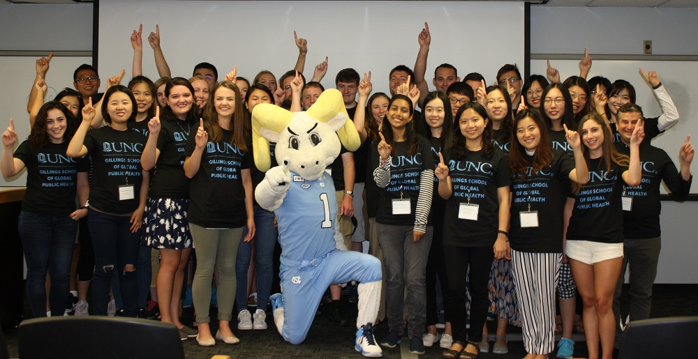 Biostatistics Students meet Rameses.