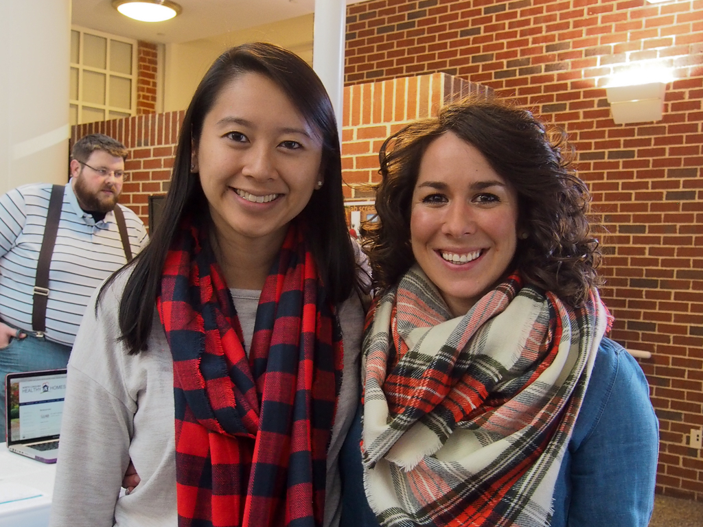 Doctoral students, Liz Chen and Jayne Jeffries are also teaching assistants.