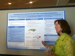 Anna Schenck, principal investigator, presenting research results at the AcademyHealth Annual Research Meeting in June 2014.