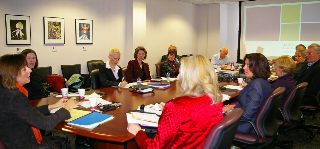 Dr. Sue Hobbs leads a discussion in 2011 with NETDOC members from around the world