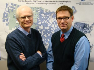 Drs. George Pink (left) and Mark Holmes