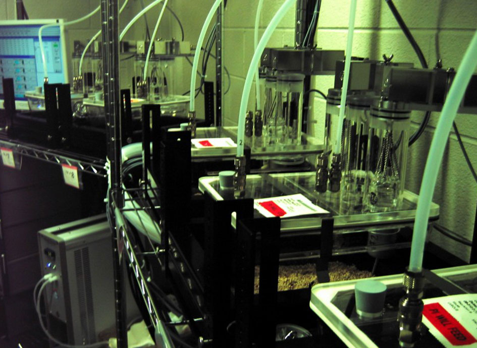 A calorimeter is a common device in a nutrition lab.