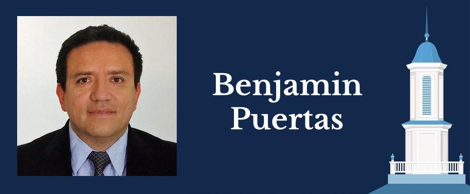 Portrait of Health Policy and Management alumnus Benjamin Puertas