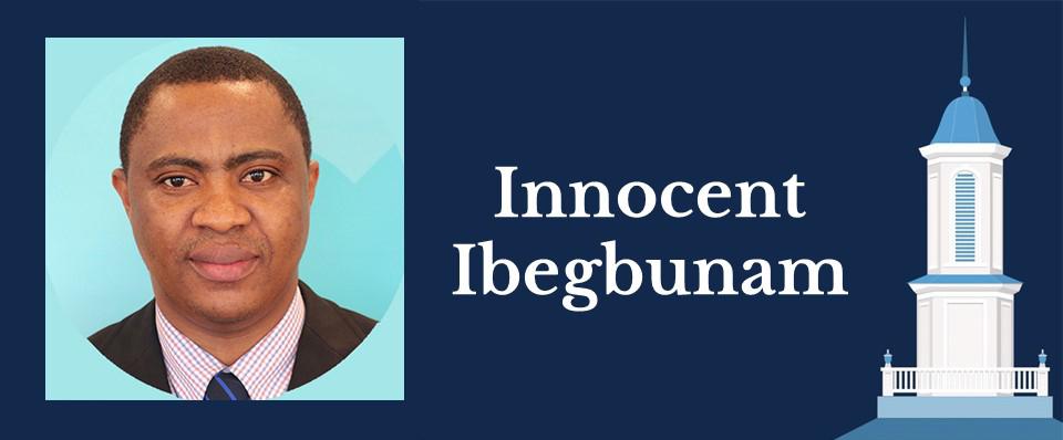 Portrait of Health Policy and Management alumnus Innocent Ibegbunam