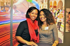 Alumna Briana Webstar (l) and friend Talisha Lee loved coming to the Washington event at the National Geographic Museum.