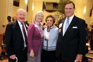 Bryan Bullard, Mary Webster, and Laura and Fred Brown (l-r) greeted guests at the Levine Museum of the New South, in Charlotte.