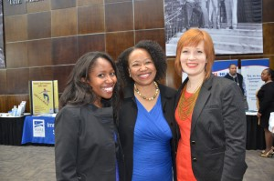 Minority Health Conference co-chairs Charla Hodges (l) and Maryka Lier (r) with keynote speaker Dr. Gail Christopher.