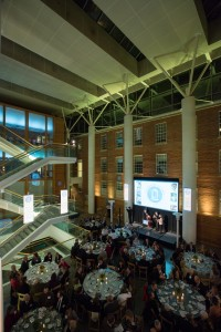 Each year, the Armfield Atrium is transformed by Jerry Salak and others for the School's World of Difference Dinner.
