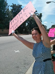 Megan Squires raised awareness about women's health issues this summer. (Contributed photo)