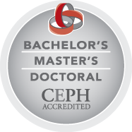 Bachelor's, Master's and Doctoral CEPH Accredited Logo