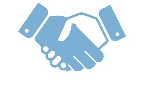 Two hands doing a handshake