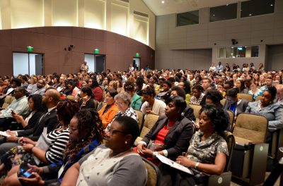 Students, faculty and staff attend the Minority Health Conference.