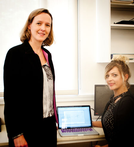 Dr. Rebecca Fry (left) and Jessica Laine