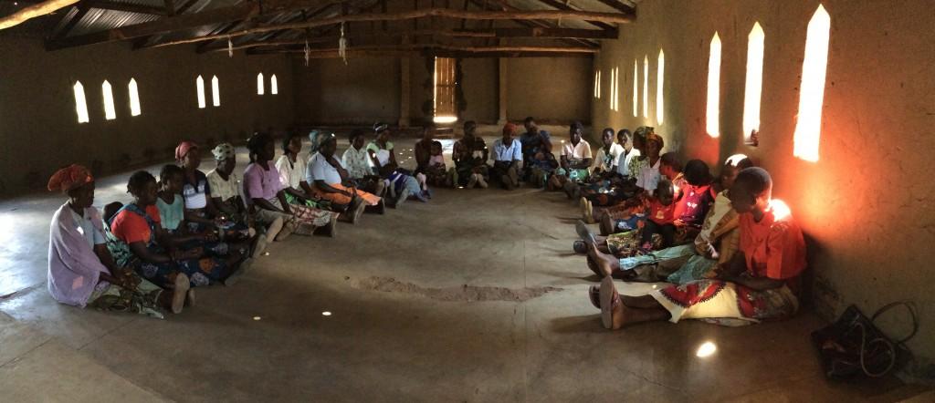 ggg_murphy_Women gather for opening prary at VSLA meeting