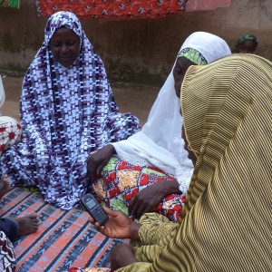 Nigerian women in Dr. Valerie Flax's study who received cellphone messages about breastfeeding were moire likely to breastfeed exclusively. (Photo courtesy of Partners for Development)