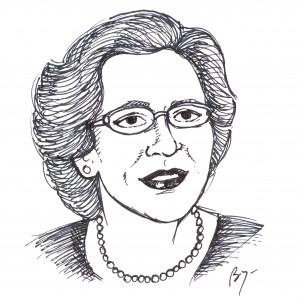 Dorothy Dunn (Sketch by Bryan Norris © 2015)
