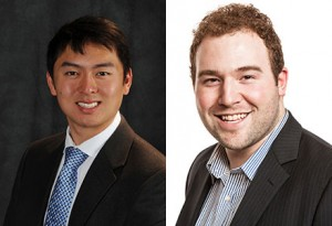 Larry Han (left) and Max Seunik have been named recipients of the inaugural Schwarzman Scholars program award.