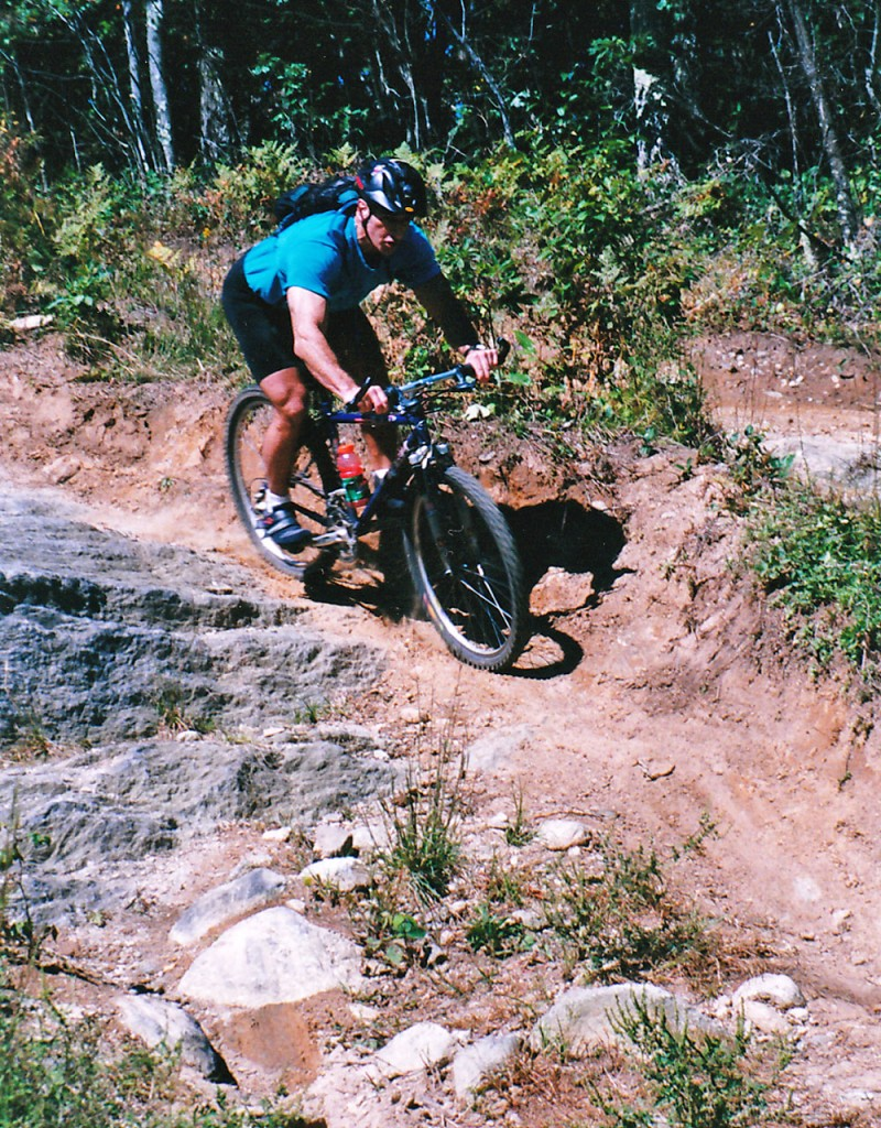 David Pesci finds that mountain biking calls for intense focus, a skill that transfers to other areas of his life.