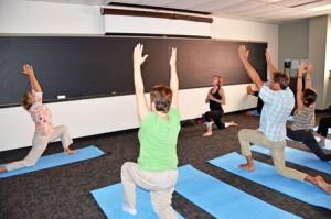 Slade-Sawyer instituted regular half-hour yoga classes at the School.