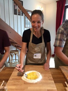 Kate learns to create handmade pasta during a vacation in Italy. (Contributed photo)