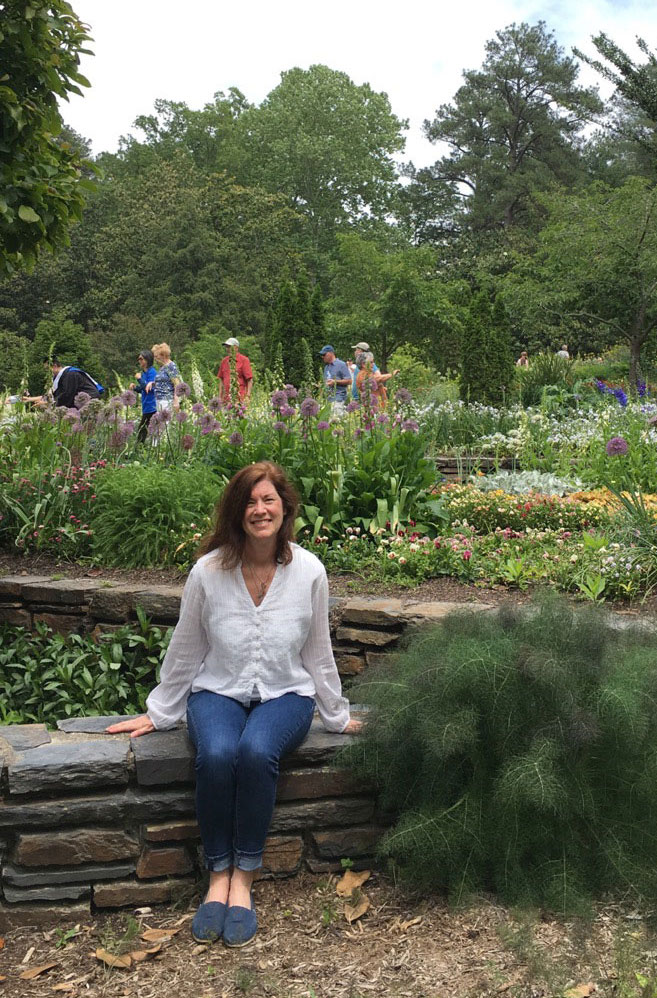 Lisa enjoys the scenery at Duke Gardens. (Contributed photo)