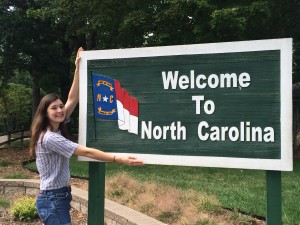 Britt embraces her new home state from mountains to sea. (Contributed photo)