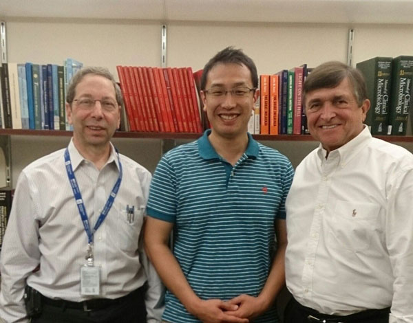 In departmental conference room with David Weber (L) and William Rutala (R), Hospital Epidemiology, UNC Health Care.