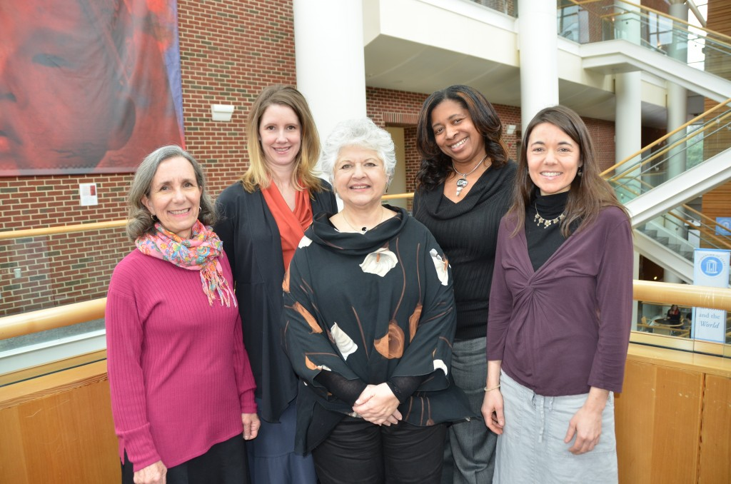 Left to right are CGBI staff members Kathleen Anderson, Catherine Sullivan, Dr. Miriam Labbok, Dorothea Calhoun-Smith and Kathy Parry. (Photo by Linda Kastleman)