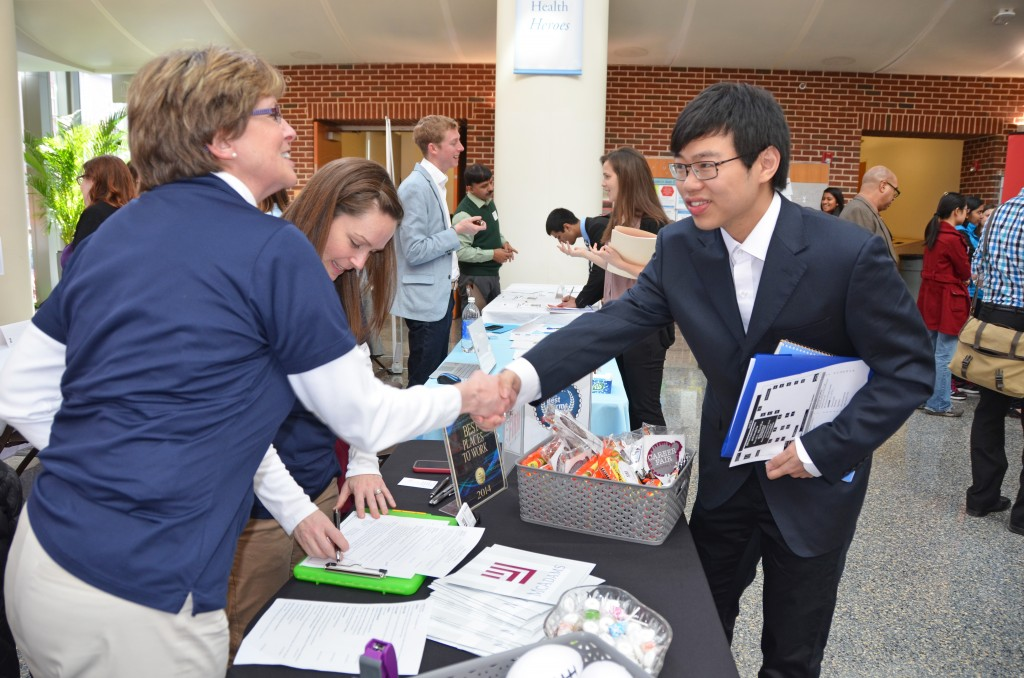 At the annual activities fair, students find opportunities for service, internships and future careers.