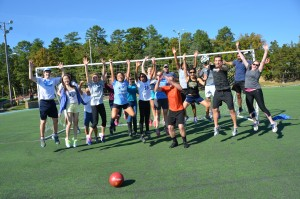 At the annual Gillings Games, students enjoy an Olympic-style field day with a series of relay and team events.