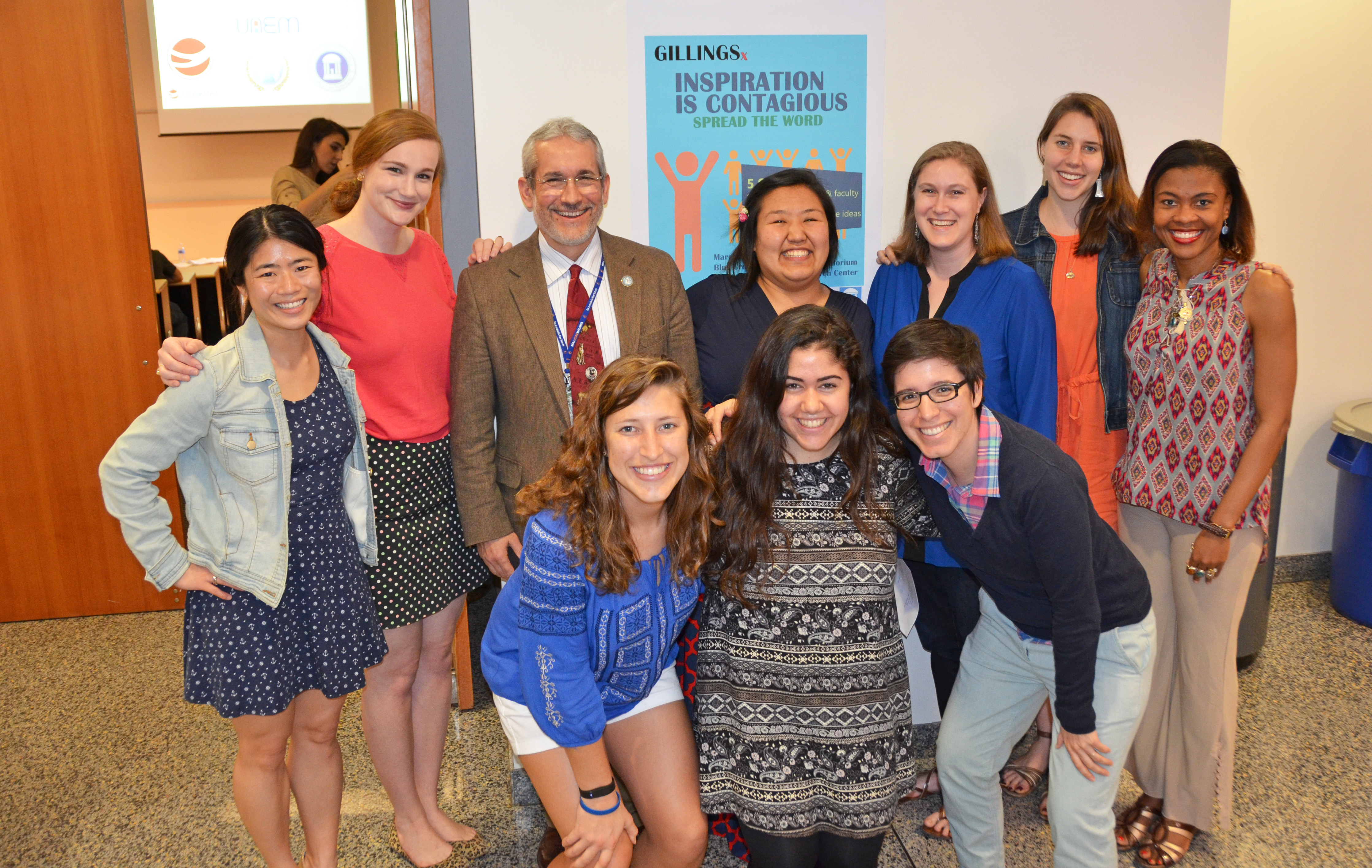 The student Global Health Committee organizes the annual GillingsX talks.