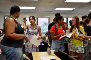 New students mingle at the 2016 Diversity Orientation.
