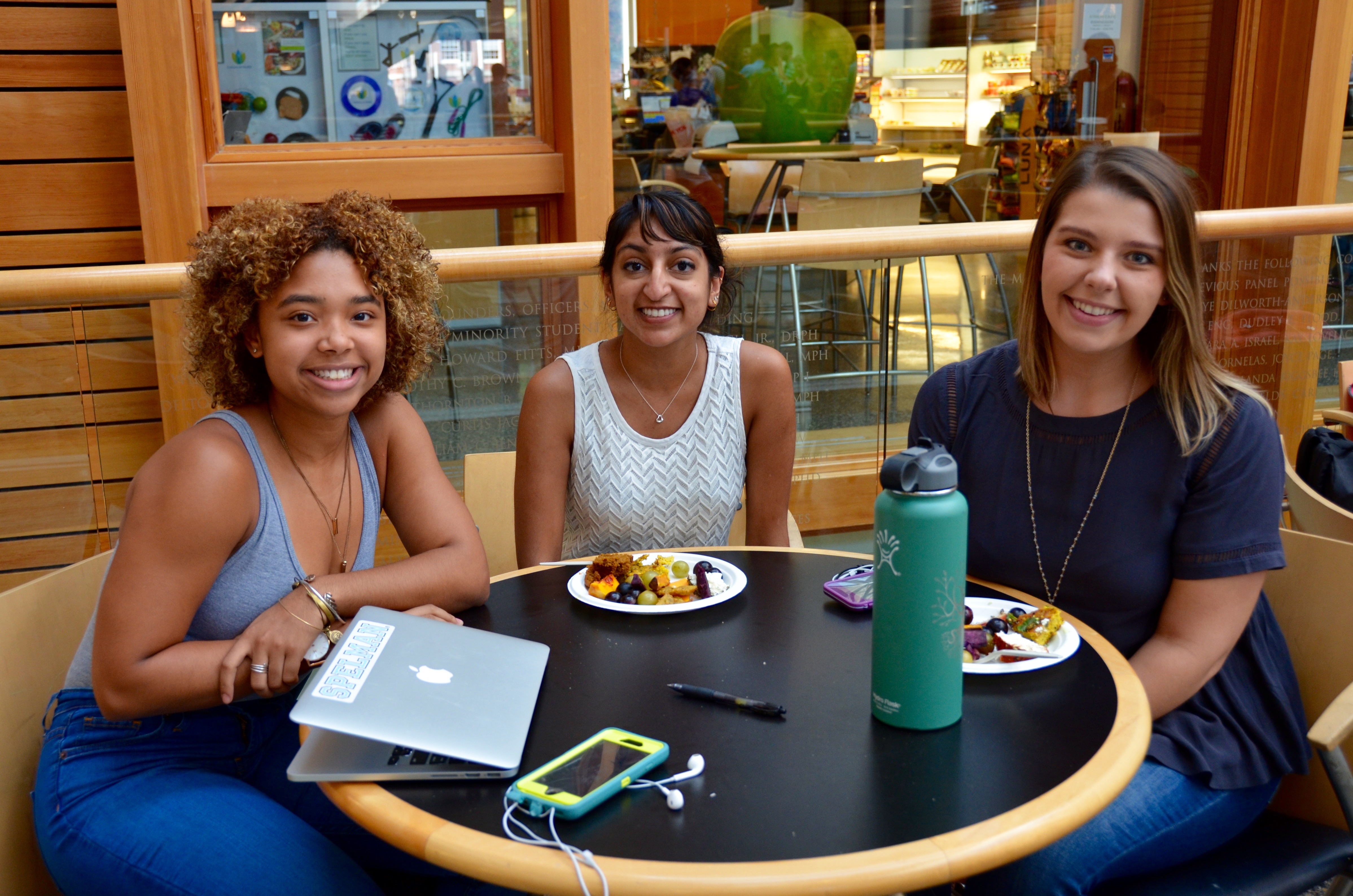 Student enjoy locally-grown food during the Schoolwide Welcome.