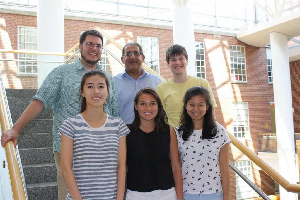 The 2016-2017 trainees are (back, L-R) Douglas Wilson, Joseph Ibrahim (adviser), Sean McCabe, (front, L-R) Ruth Huh, Paloma Hauser and Laura Zhou.