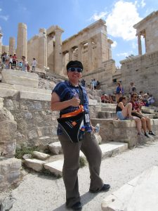 Brenda strikes a pose at the Acropolis in Athens, Greece, during her honeymoon. (Contributed photo)