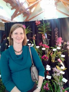 Recently, Rhoda attended an orchid show at Sarah P. Duke Gardens.