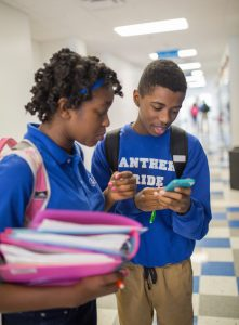 Abigail Roberts and Demonte Edwards compare their impressions of the Real Talk app.